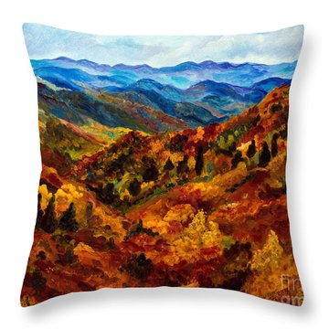 Blue Ridge Mountains In Fall II Throw Pillow by Julie Brugh Riffey