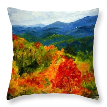 Blue Ridge Mountains In Fall Throw Pillow