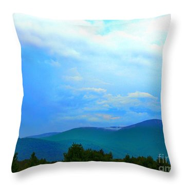 Throw Pillow featuring the photograph Blue Ridge Mountains by Judy Palkimas