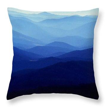 Blue Ridge Mountains Throw Pillow by Thomas R Fletcher
