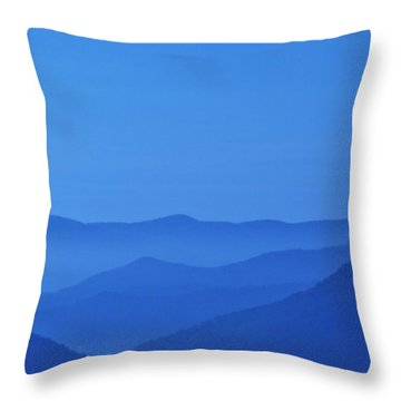 The Blue In Blue Ridge Throw Pillow by Gary Smith