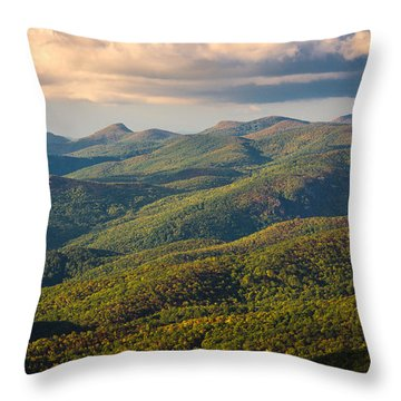 Blue Ridge Panoramic Throw Pillow by Serge Skiba