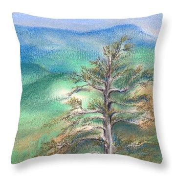 Blue Ridge Pine Throw Pillow