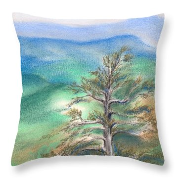 Blue Ridge Pine Throw Pillow