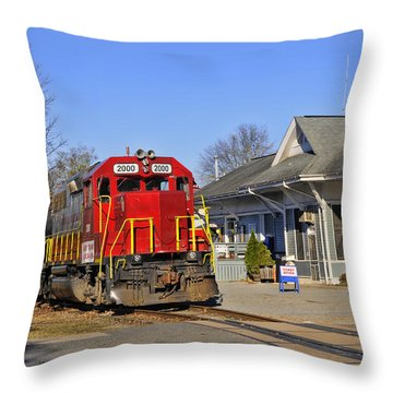 Blue Ridge Scenic Railway Throw Pillow by Kenny Francis