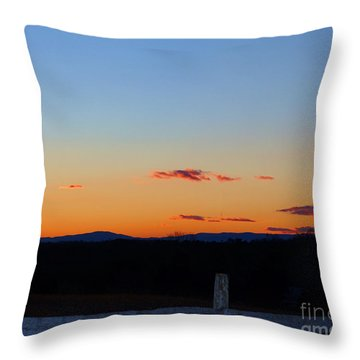 Blue Ridge Sunset Throw Pillow