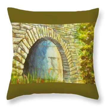 Blue Ridge Tunnel Throw Pillow