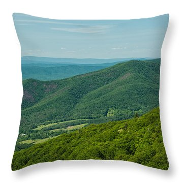 Blue Ridge Vista Throw Pillow by Lara Ellis