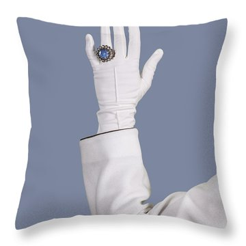 Blue Ring Throw Pillow by Joana Kruse