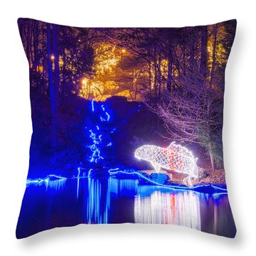 Blue River - Full Height Throw Pillow