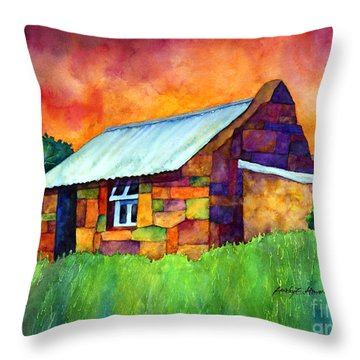 Blue Roof Cottage Throw Pillow