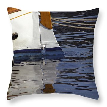 Blue Rudder Throw Pillow