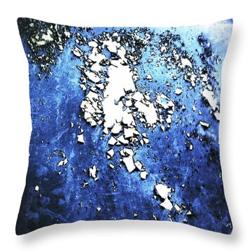 Throw Pillow featuring the photograph Blue Rust by Selke Boris