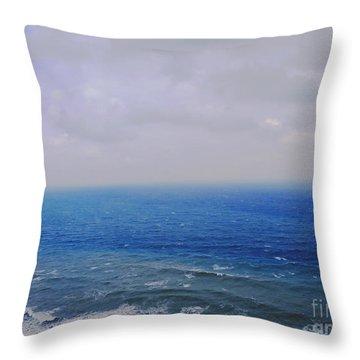 Blue Sad Throw Pillow