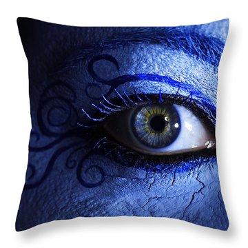 Blue Throw Pillow