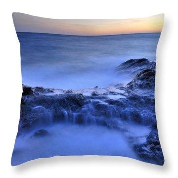 Blue Seaside Throw Pillow by Guido Montanes Castillo