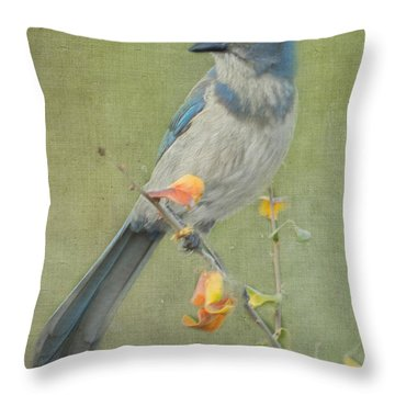 Blue Sentinel Throw Pillow