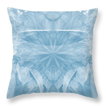 Throw Pillow featuring the photograph Blue Serinity by Geraldine DeBoer