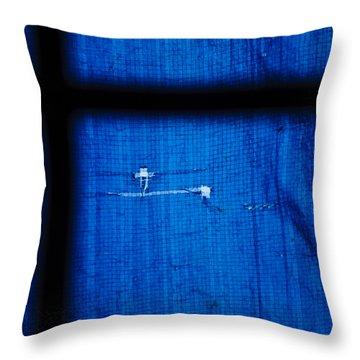 Blue Shade Throw Pillow by Christi Kraft