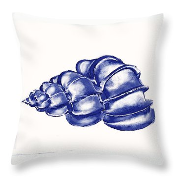 Throw Pillow featuring the digital art Blue Shell by Jane Schnetlage