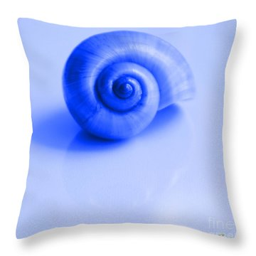 Blue Shell Throw Pillow