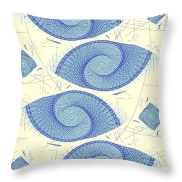 Blue Shells Throw Pillow by Anastasiya Malakhova
