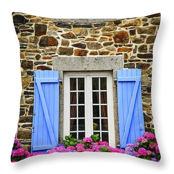 Blue Shutters Throw Pillow by Elena Elisseeva