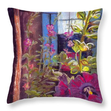 Blue Shutters Throw Pillow by Julie Maas