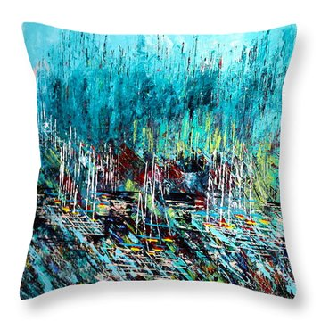 Blue Skies Chicago - Sold Throw Pillow