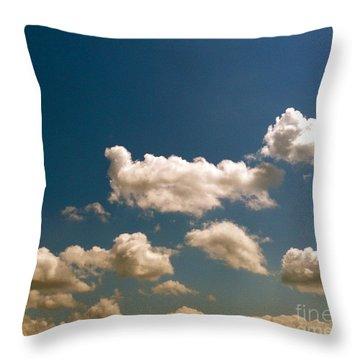 Blue Skies II Throw Pillow