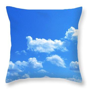Blue Skies IIi Throw Pillow