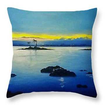 Blue Skies Throw Pillow by Kelly Turner