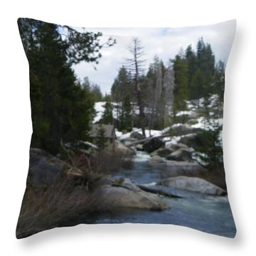 Throw Pillow featuring the photograph Blue Skies Of Winter by Bobbee Rickard