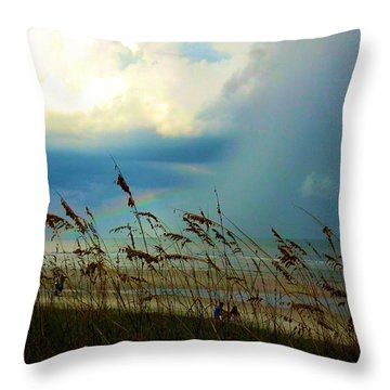 Blue Sky Above Throw Pillow