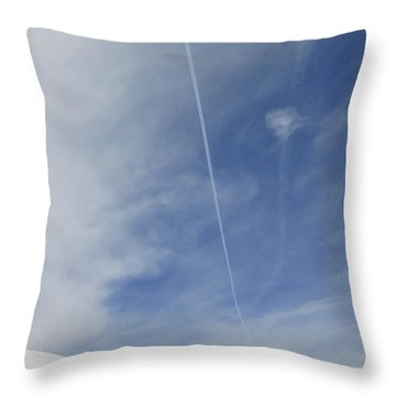 Blue Sky And Snow Throw Pillow