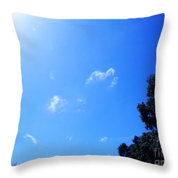 Blue Sky And Sunshine Throw Pillow