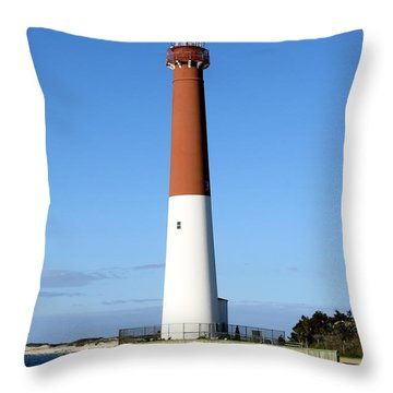 Blue Sky Blue Sea  And Barnegat Light Throw Pillow by Christiane Schulze Art And Photography