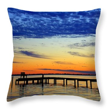 Throw Pillow featuring the photograph Blue Sky by Faith Williams