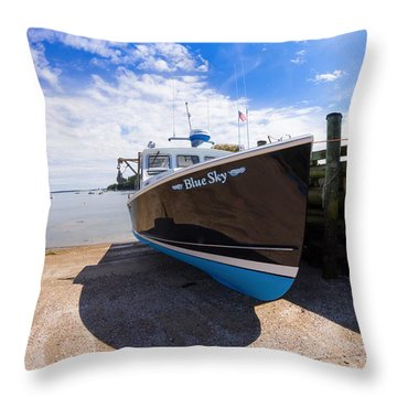 Throw Pillow featuring the photograph Blue Sky by Kirkodd Photography Of New England