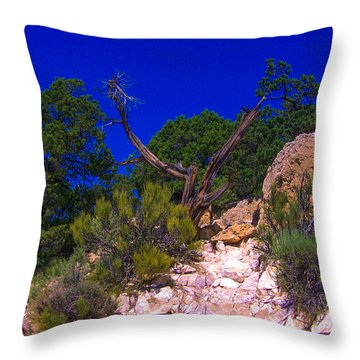 Blue Sky Over The Canyon Throw Pillow