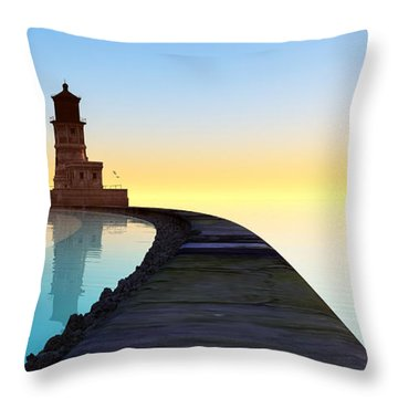 Blue Smooth Throw Pillow by Tim Fillingim