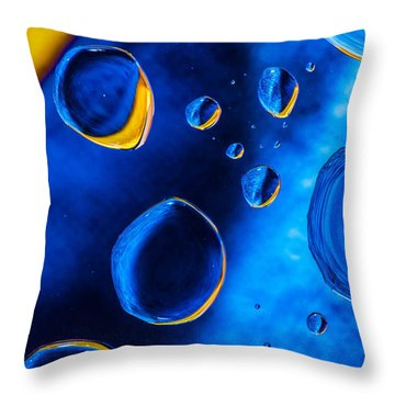 Blue Space Ice Throw Pillow by Bruce Pritchett