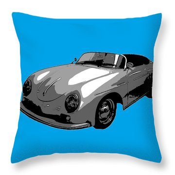 Blue Speedster Throw Pillow by J Anthony