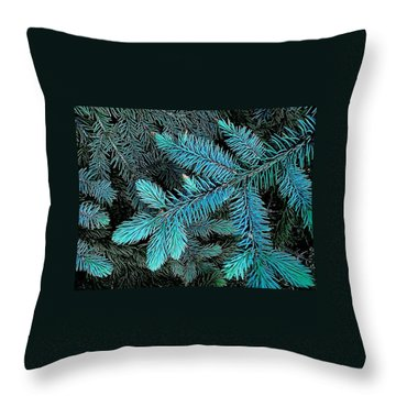 Throw Pillow featuring the photograph Blue Spruce by Daniel Thompson
