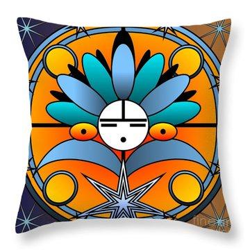 Blue Star Kachina 2012 Throw Pillow