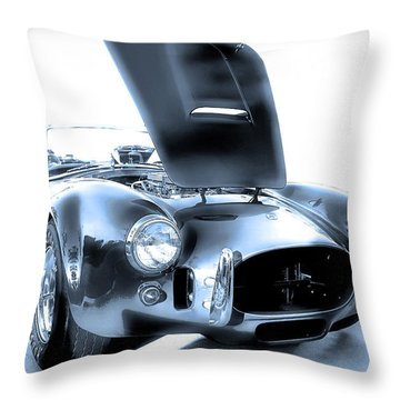 Throw Pillow featuring the photograph Blue Steel by Dyle   Warren