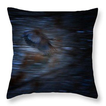 Blue Streak Throw Pillow by Robert McCubbin
