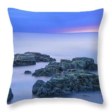 Blue Sunrise Throw Pillow