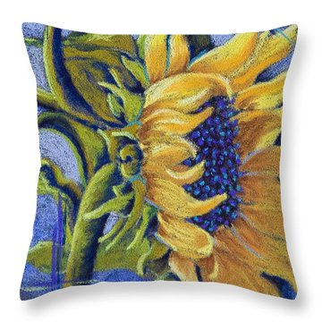 Blue Sunshine Throw Pillow by Tracy L Teeter