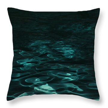 Blue Swirl One Throw Pillow